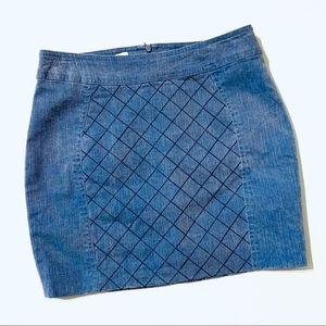 Corey Lynn Calter Anthro Denim Stitch Mini Skirt 4